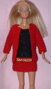 Mini skirt and jacket http://web.archive.org/web/20060203193221/http:/barbiebasics.tripod.com/crochet40.html