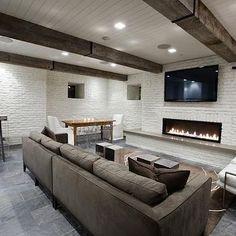 Basement TV Room, Transitional, basement, Washington School House Hotel