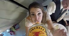 A GoPro camera taped to a handle of whiskey creates an awesome party and video.