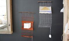 metal weavings -- Nightwood __   copper, steel wire; cotton
