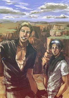 Attack on Titan (SnK) - Erwin Smith x Levi Ackerman - Eruri