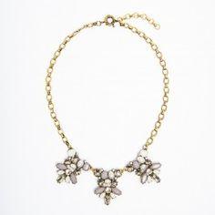Taupe Vintage Gem Necklace