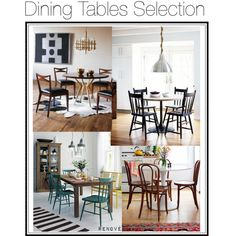 """Dining tables"" by rere-renove on Polyvore"