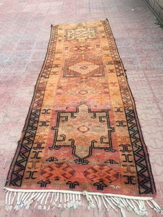Carpet RUNNER RugBohemian Chic AZTEC Design by Volkancarpet