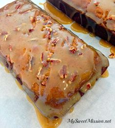 My Pecan Pumpkin Bread with Warm Caramel Glaze is deliciously moist and nutty…