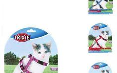 Nylonový postroj- kšíry pro koťata - motiv 21-34cm/8mm Trixie   Kočkárium