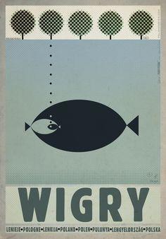 Jezioro WIGRY plakat z serii POLSKA