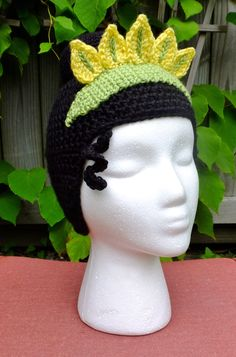 Princess Tiana inspired wig / hat Princess and the Frog (37.00 USD) by StrungOutFiberArts