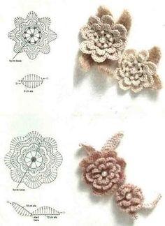 Piccoli fiorellini all'uncinetto con schema - Il blog italiano sullo Shabby Chic e non solo