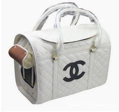 CC, LV (wheels)Chanel Dog Bag, Carrier, Other brands Dog Carrier Purse, Designer Dog Carriers, Dog Bag, Pet Carriers, Girl And Dog, Dog Crate, Dog Supplies, Dog Design, Dog Toys