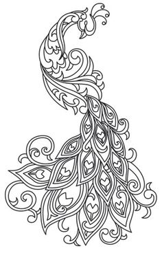 24 Trendy ideas embroidery designs by hand pattern transfer paper urban threads Peacock Art, Peacock Design, Peacock Drawing, White Peacock, Peacock Pattern, Peacock Sketch, Peacock Vector, Peacock Images, Peacock Theme
