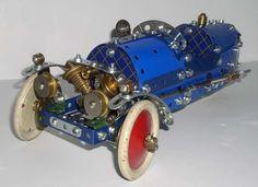 Meccano three-wheel sports car, 3-wheel, three 3 tricycle trike