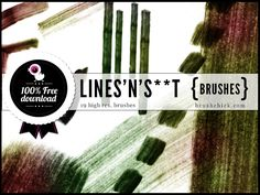 """Free Photoshop Brushes #19 – """"Lines'n'S**T"""" Brushes"""