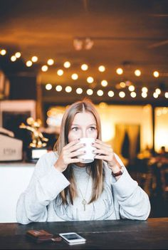 Inget är bättre än att dricka kaffe på morgonen.