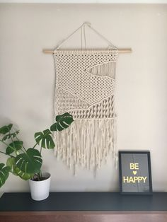 Landscape picture macrame wall hanging - hills by Macrametry on Etsy