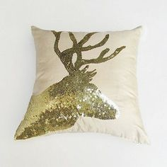 gold sequin deer head cushion and pilllow cover $34.50