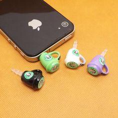 Cute Starbucks Coffee Mark Cup Anti Dust Plug 3.5mm Phone Accessories Charm Headphone Jack Earphone Cap for iPhone 4 4S 5 iPad HTC Samsung