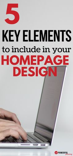 Homepage Design Learn The 5 Critical Elements You Pinterest Design, Homepage Design, Email Marketing Strategy, Article Writing, Online Entrepreneur, Blogging For Beginners, Make Money Blogging, Blog Tips, Cool Websites