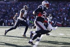 Dec 4, 2016; Foxborough, MA, USA; New England Patriots running back LeGarrette Blount (29) carries the ball to score a touchdown during the first quarter against the Los Angeles Rams at Gillette Stadium. Mandatory Credit: Greg M. Cooper-USA TODAY Sports
