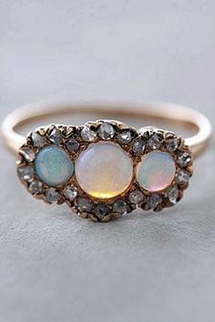 Marie Antoinette's opal & diamond frame ring.
