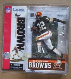 JIM BROWN CLEVELAND BROWNS MCFARLANE NFL LEGENDS SERIES 2