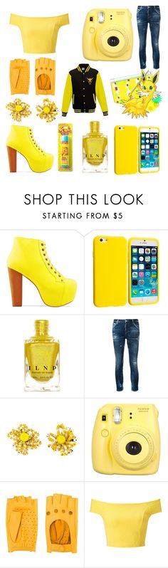 """""""Jolteon"""" by galacticpeanut ❤ liked on Polyvore featuring Jeffrey Campbell, Yellow Jacket, Dsquared2, Christian Lacroix, Fujifilm, Zanellato and Miss Selfridge"""