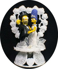 Marge & oo Homer SIMPSONS Wedding Cake Topper by YourCakeTopper