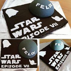 coole und einfache Deko Idee zum Thema Starwars. Schrift wurde mit ausgedruckter Schablone aus Fondant ausgeschnitten. Weitere einfache Kuchen und Tortenideen findet ihr auch unter Facebook und Instagram lacky-baking.