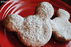 Disney Recipes: Mickey Beignets from Cafe Orleans (Disneyland) www.TheDisneyDiner.com