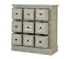 Aparador en madera de abedul Asia – gris azulado II