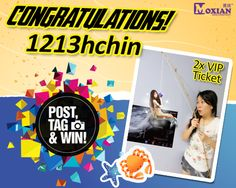 Congratulations to our grand prize winner 1213hchin !! PM us your contact details on our Facebook / PM on MO_Contest our MO-Promo page for prize redemption : Name : Contact No : Email address : What's more? Watch this space at 5pm as we will be giving out a pair of tickets worth RM198 to another lucky participant as a surprise! p/s: Please collect your tickets at Moxian booth on 13 December 2014 between 4.00 to 6.00pm.