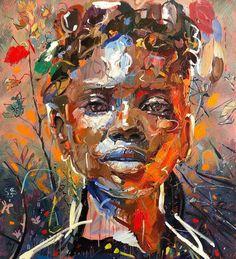 Chris Denovan | Thistle (2020) - available for sale | StateoftheART Sun Painting, Yellow Painting, Painting Edges, Contemporary Portrait Artists, Art Tips, Art Inspo, Oil On Canvas, Original Paintings, Fine Art