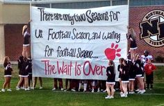 Football run through sign - WILDCAT Football 2014 has officially started! Football Game Signs, Football Cheer, Sports Signs, School Football, Football Season, Football Treats, Football Spirit, Cheer Coaches, Cheer Mom