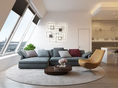 Penthouse in Moscow by Shamsudin Kerimov architects (7)