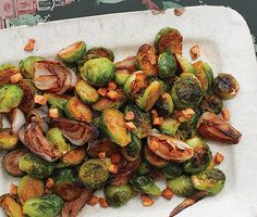 Brussels Sprouts with Shallots and Salt Pork shallot, foods, brussel sprout, brussels sprouts, food yummi, food idea, salt pork, salts, food photo