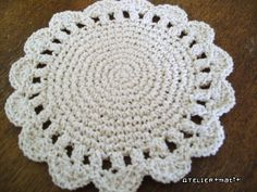 Flower Potholder pattern with a diagram