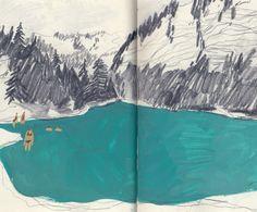 blue like you | Charlotte Ager illustration
