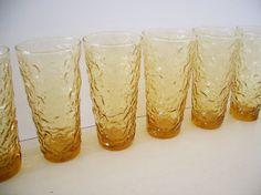 VINTAGE 70's Iced Tea Glasses - Set of 6 on Etsy, $30.00
