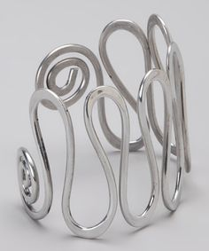 Take a look at this Silver Waterfall Cuff by aluminations on #zulily today!