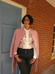 How I styled a printed blouse