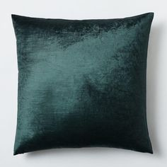 Cotton Luster Velvet Pillow Cover is part of Green Home Accessories West Elm Shine from inside out One of our favorite fabrics of the season, our luster velvet is prized for its subtle sheen, which - Green Throw Pillows, Diy Pillows, Toss Pillows, Decorative Pillows, Accent Pillows, Velvet Cushions, Cushions On Sofa, Couch, Green Home Decor
