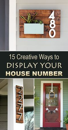 Creative Ways to Display Your House Number Add some character to your home's exterior with these creative DIY house numbers!Add some character to your home's exterior with these creative DIY house numbers! Home Improvement Projects, Home Projects, Upcycled Crafts, Diy And Crafts, Decoration Entree, Decoration Piece, Diy Casa, Farmhouse Side Table, Farmhouse Decor