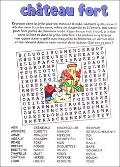 Mot myst re imprimer le moyen ge pinterest word search - Image du moyen age a imprimer ...