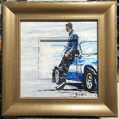 """Paul Walker"", #michaelscottwoodcock Artist Original Oil Painting Art Board 
