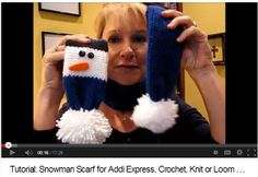 A simple Snowman Scarf that translates well to any yarn craft! Addi Express crank knitter is used in this tutorial but measurements and ideas are shared for all the yarn crafts!  http://youtu.be/wRNlY_XRfu0  Link to written notes: http://sheepishlysharing.com/2013/10/...