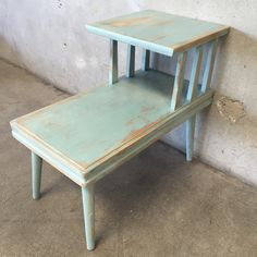 "Vintage Hand Painted End Table  25"" x 28 3/4"" x 15"""