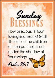 Psalm 36, Children Of Men, Sunday Love, Under The Shadow, Blessed, Blessings, Christianity