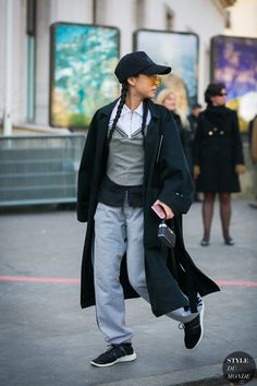 Paris Men's Fashion Week Fall 2017 Street Style: Christina Paik