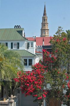 Charleston, South Carolina, the laws of Charleston....no building is to be built higher than the church steeple and to this day that law remains