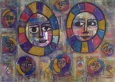 Sofia Kifle, Ethiopian Whispers, acrylic work of art, ETHIOPIA